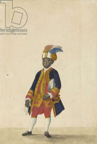 Servant in livery (Cupido), 1766 (ink on paper)