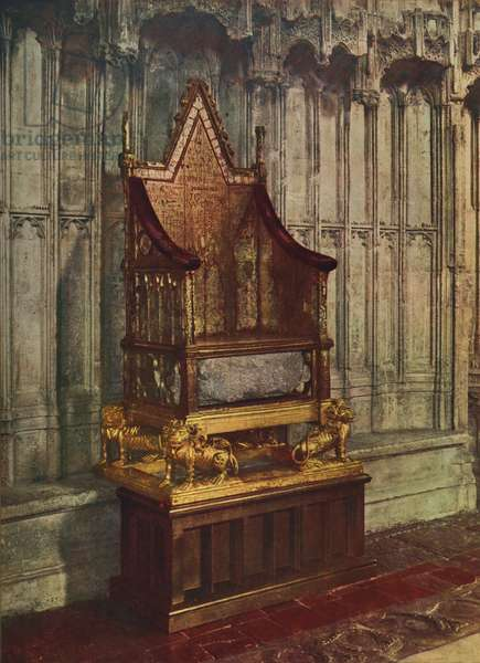 The Coronation chair of George VI