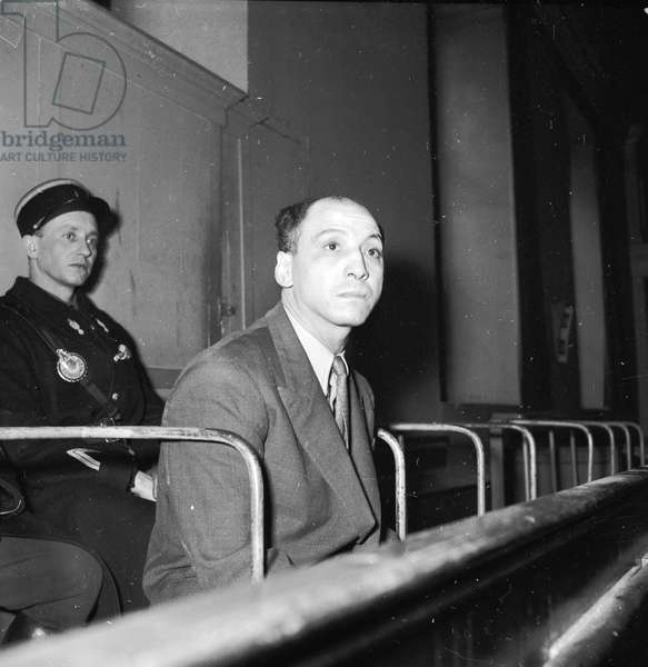 Hamid Djenadi, former boxer, at his trial for murder, 1952