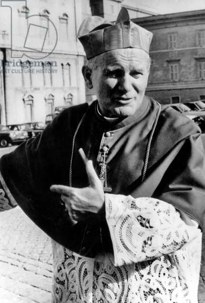 Cardinal Karol Wojtyla, Cardinal From 1967 To 1978, Future Pope John Paul Ii (b/w photo)
