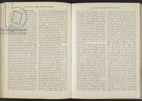 The Rational Dress Society's Gazette, January 1889 (litho)
