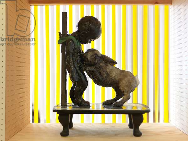 The Wonderful Story of the Tar Baby, 2010 (wood, clay, fabric, paint)