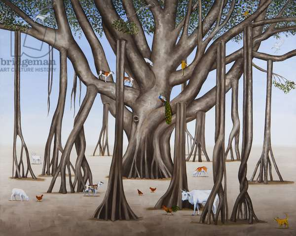 In The Shade of the Banyan Tree, 2014 (oil on linen)