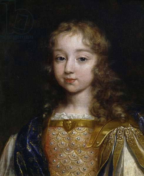 Portrait of Louis XIV as child (1638-1715), painting by an unknown artist, oil on canvas, 45x37 cm