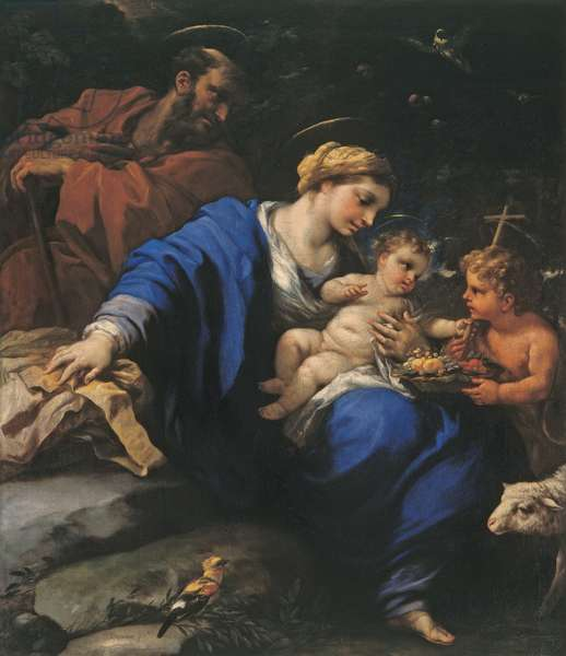 Holy Family with the Infant St John the Baptist, c.1675 (oil on canvas)