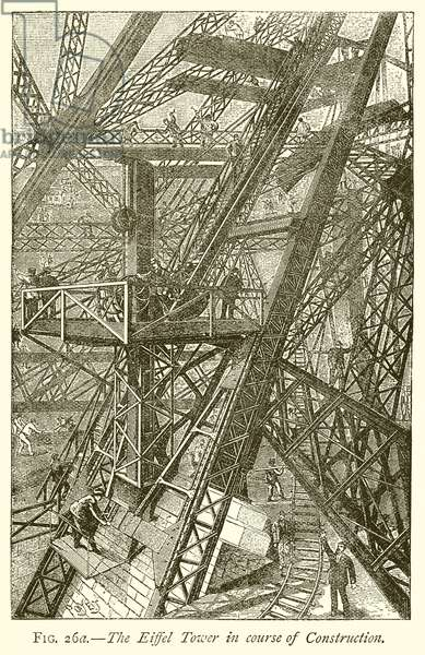The Eiffel Tower in Course of Construction (engraving)