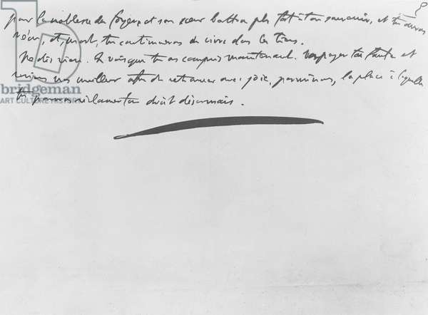 'Vouloir ou Mourir', extract from an article for 'L'Homme Libre' by Georges Clemenceau (litho)