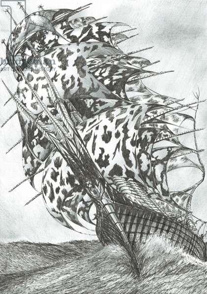 Storm Creators North Sea, 2017 (ink and pencil on paper)