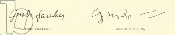 Guy Fawkes Signature (engraving)
