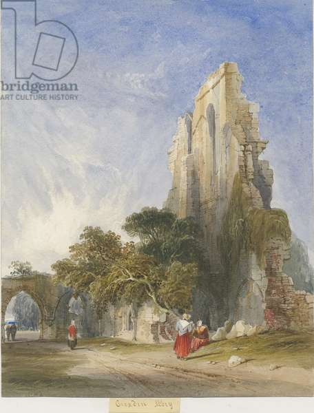 Croxden Abbey: water colour painting, nd [c1830-1840] (painting)