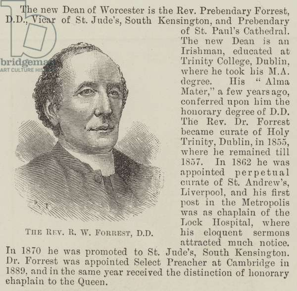 The Reverend R W Forrest, DD (engraving)