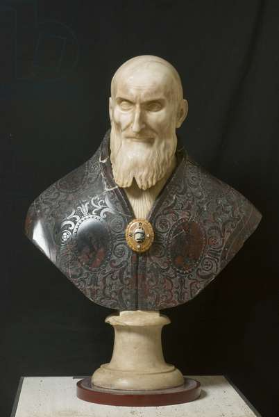 Bust Portrait of Pius V, 1575-89 (marble)