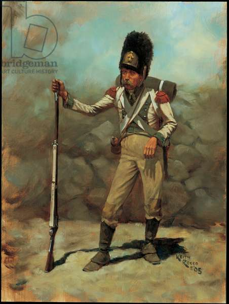 Grenadier: 6th Line Infantry, Kingdom of Holland 1810, 2005 (oil on board)