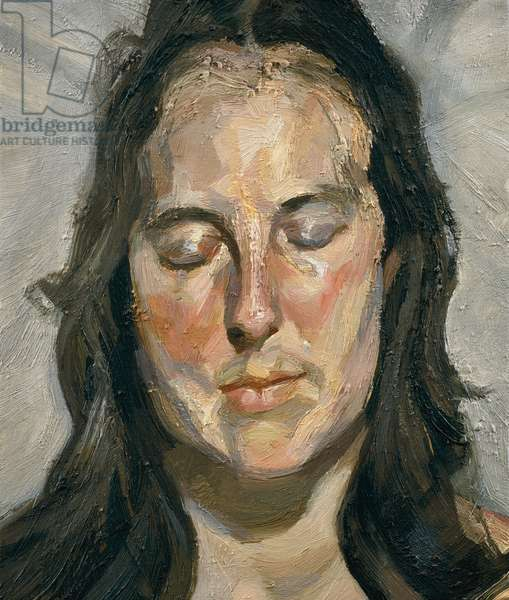 Woman with Eyes Closed, 2002 (oil on canvas)