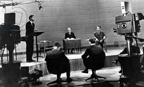 Richard Nixon and John F. Kennedy at the Kennedy-Nixon debates, 09-26-1960.