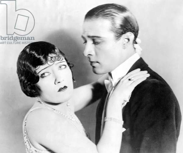 Gloria Swanson and Rudolph Valentino in 'Beyond the Rocks', 1922 (b/w photo)