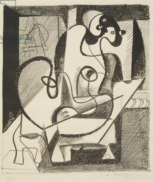 Painter and Model, 1931 (litho)