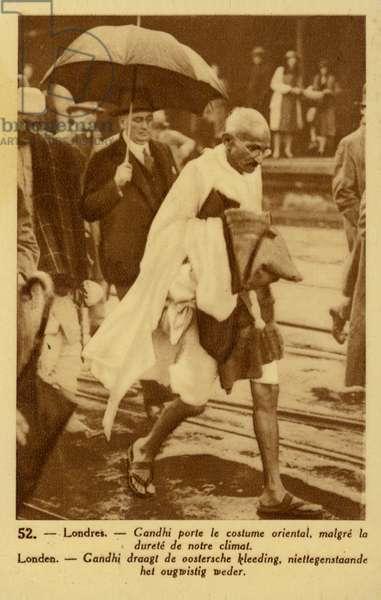 Mahatma Gandhi (sepia photo)