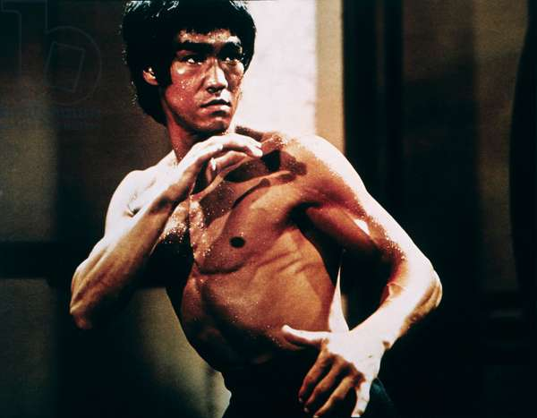 Bruce Lee, on set of the Film 'Enter the Dragon', 1973 (photo)