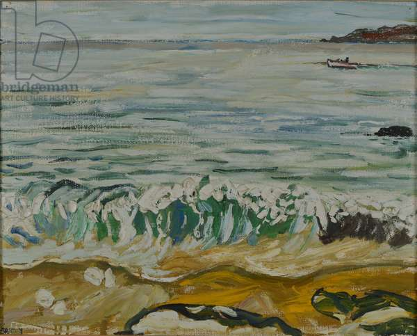 Breaking Wave and Boat, 1969 (oil on canvas)