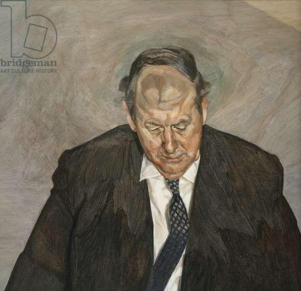 Portrait of a man (Portrait of Andrew Cavendish, 11th Duke of Devonshire), 1971-72 (oil on canvas)