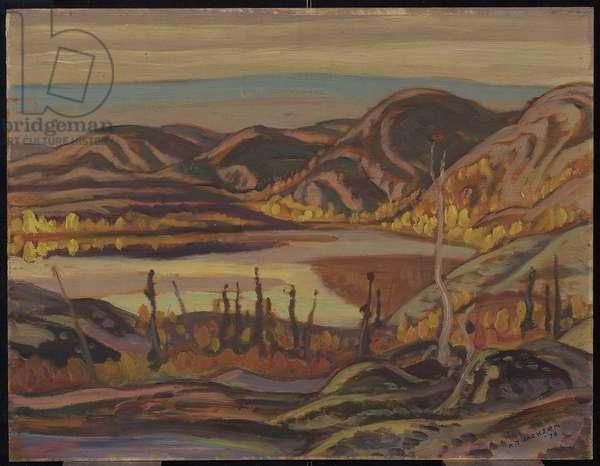 Lake at Labine Point, Great Bear Lake, September 1938, 1938 (oil on panel)