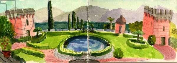 Casa Ecco, Lake Como, Italy, 2013 (w/c on paper)