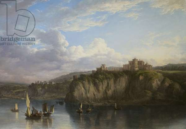 Culzean Castle from the Sea, c.1816 (oil on canvas)