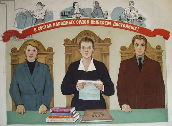 We Shall Elect the Most Deserving for the Peoples' Court, 1957 (gouache on paper)