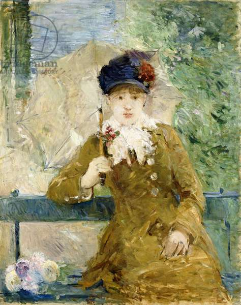 Woman with an Umbrella, 1881 (oil on canvas)