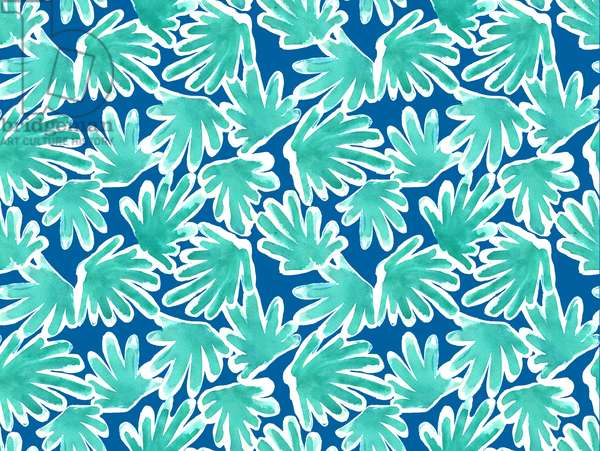 Leaves pattern, 2015, watercolor