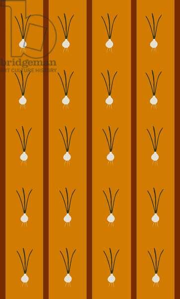 Design -CR-Onions in Ochre Brown