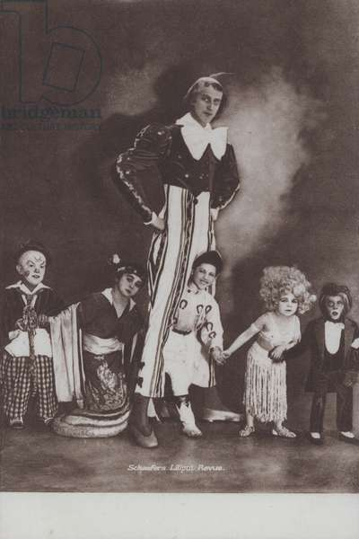Midget entertainers of Schaefer's Liliput Review (b/w photo)