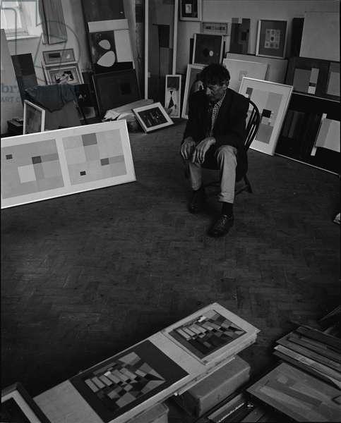 John Wells, 1963 (b/w photo)