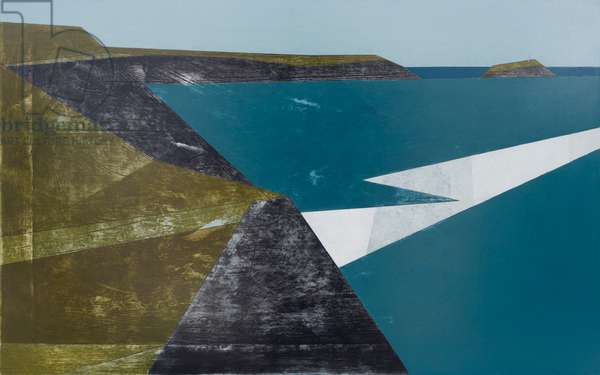 Godrevy Point 6 2017 acrylic on board 37 x 59 cm