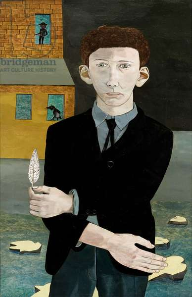 Man with a Feather (Self Portrait) 1943 (oil on canvas)