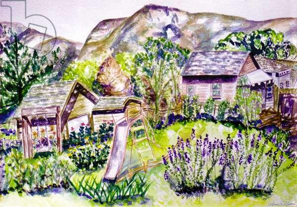 North Coast View, 1996, (watercolor)