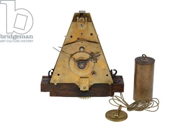 An early experimental marine timekeeper, 1660s (brass, wood, glass)