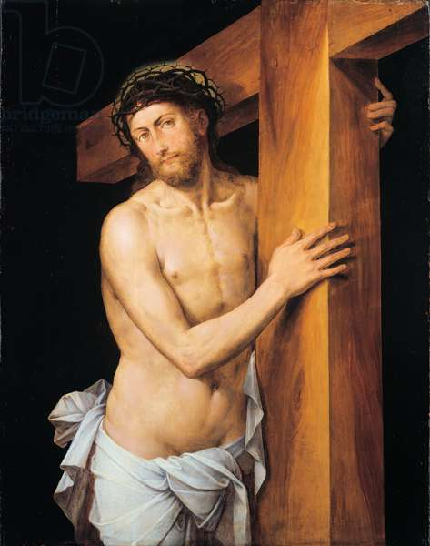Christ carrying the Cross, 1550 (oil on panel)