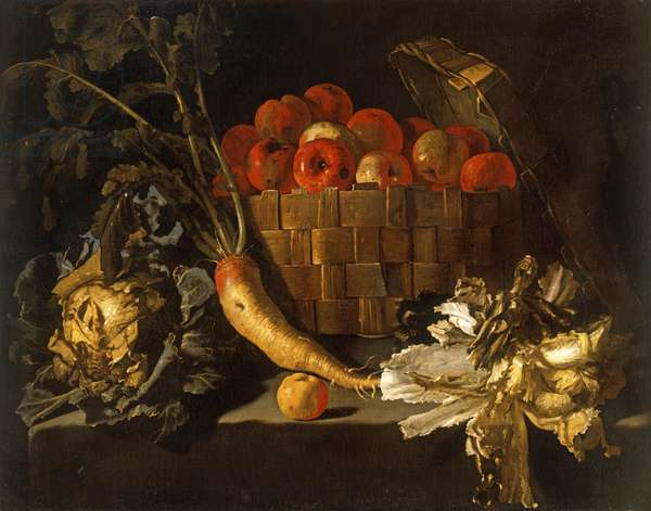 Still Life With Apples, Cabbage, Parsnip and Lettuce, c.1615 (oil on canvas)