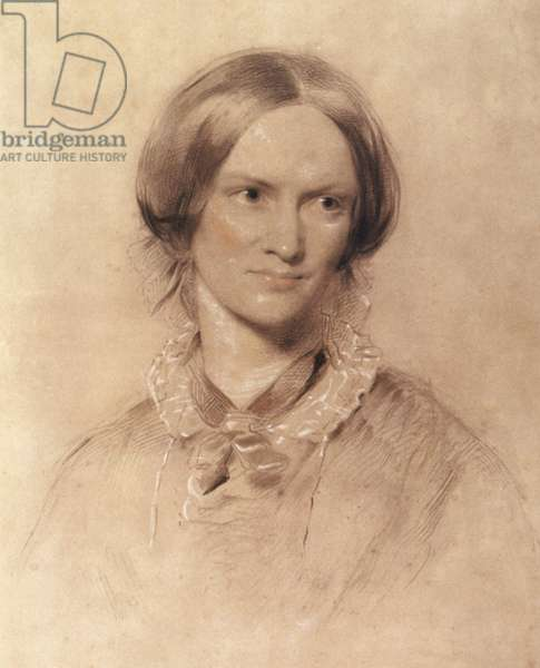 Charlotte Bronte (1816-1855) english writer, drawing by George Richmond