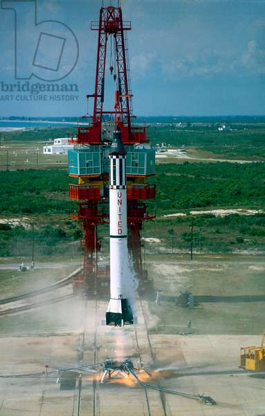 Launch of Freedom 7 by NASA on May 5 1961 (photo)