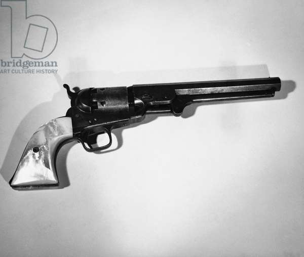 Close-up of a revolver