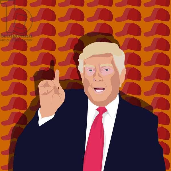 Trump and the baseball cap