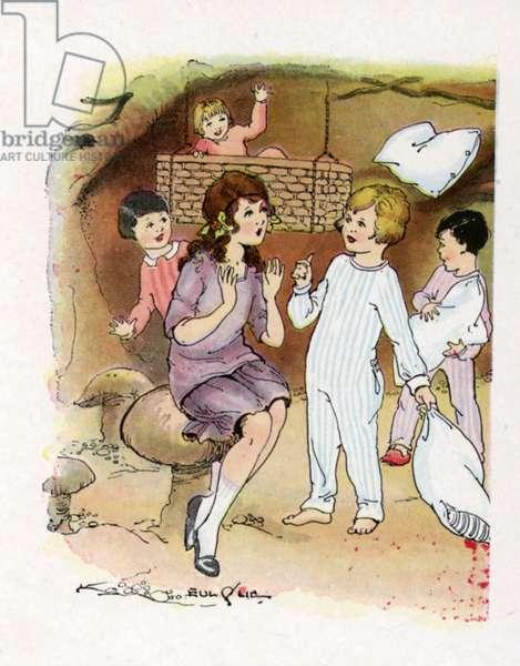 Illustration for J M Barrie's Peter Pan (colour litho)