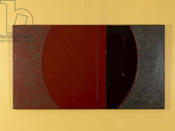 The Dynasty of Colours: The Palace of Xia, 2009 (oil, lacquer & jute on wood)