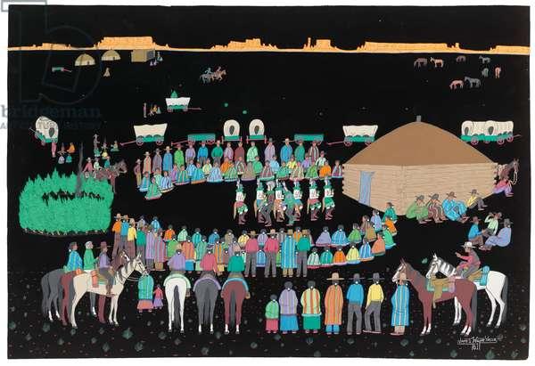 Navajo Dance, 1961 (gouache on cardboard)