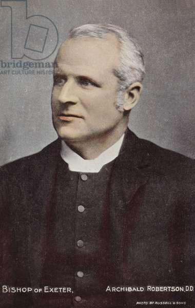 Bishop of Exeter, Archibald Robertson, DD (photo)