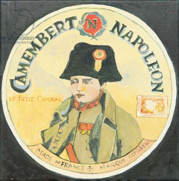 Camambert cheese pack label (acrylic)