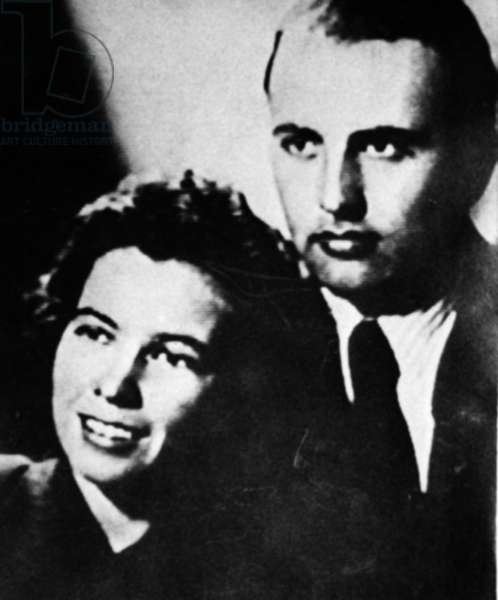 Mikhail and Raisa Gorbachev When They Were a Young Couple, a Reproduction from the Archive of the Newspaper Argumenty I Facty.